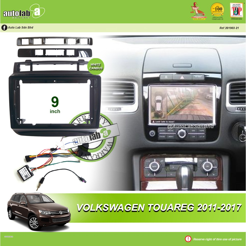 """Android Player Casing 9"""" Volkswagen Touareg 2011-2017 (with Canbus)"""