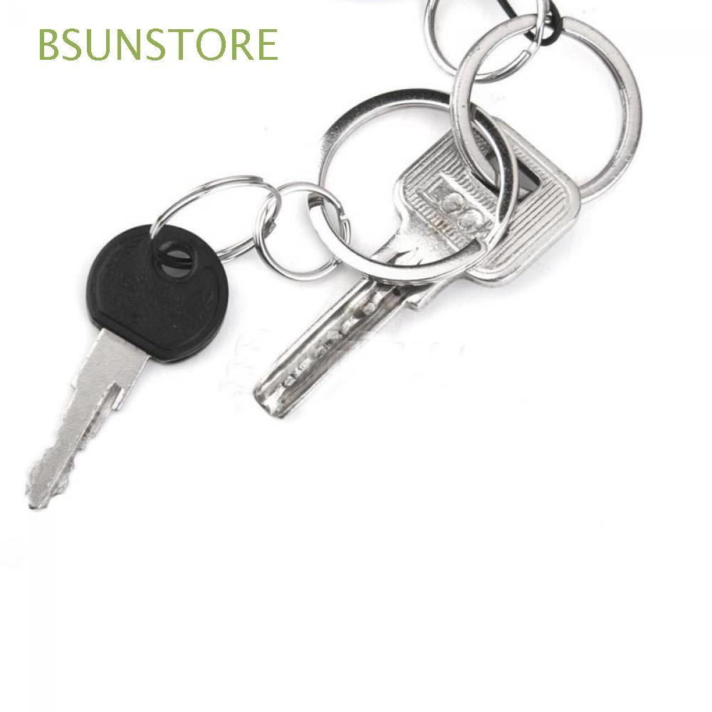 White K Metal Key Ring Double Split Clasp Connection Keyring Hoops Connectors