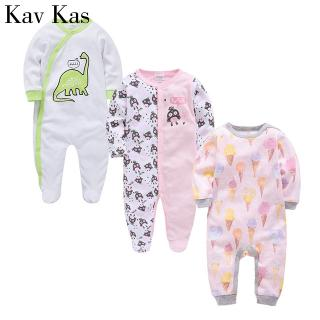 0-12 Month kavkas Baby Bodysuit Cute Short Sleeve Onesies Coverall Soft Cotton Undershirt for Toddler Infant Boys and Girls 3 Pack