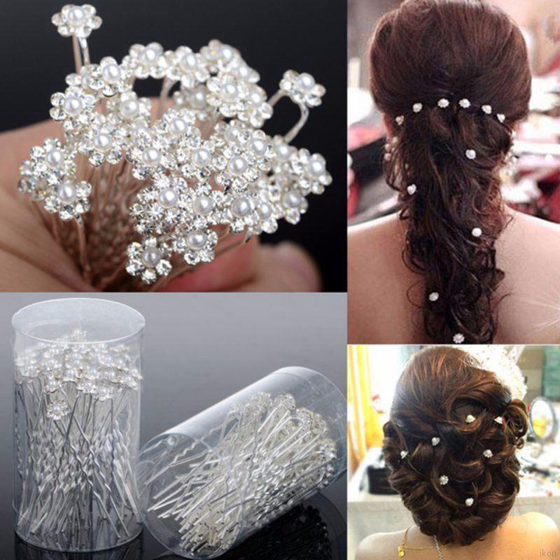 1-20 Quality Pearl Hair Pins Bobby Wedding Bridal Bridesmaid Prom Ball Party