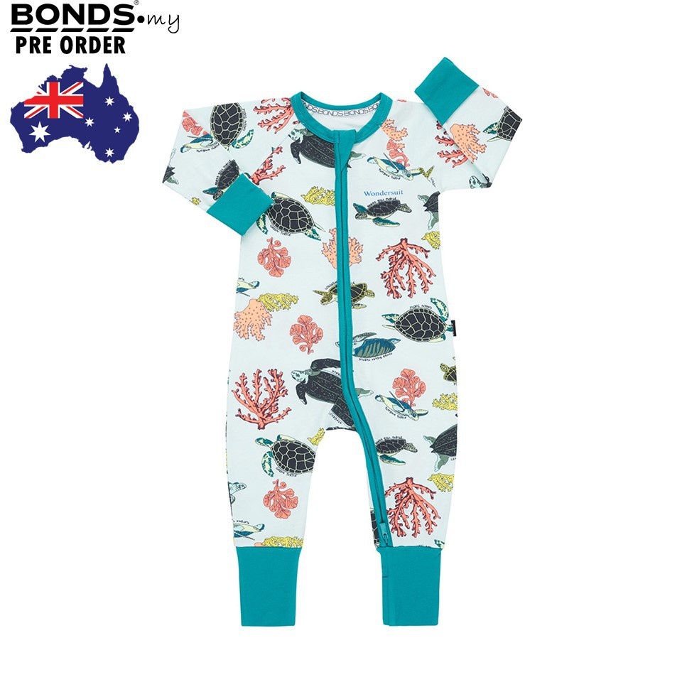 fa685b2cb2dc [Pre Order] BONDS Baby Zip Wondersuit LS CocoDragon Blue | Shopee Malaysia