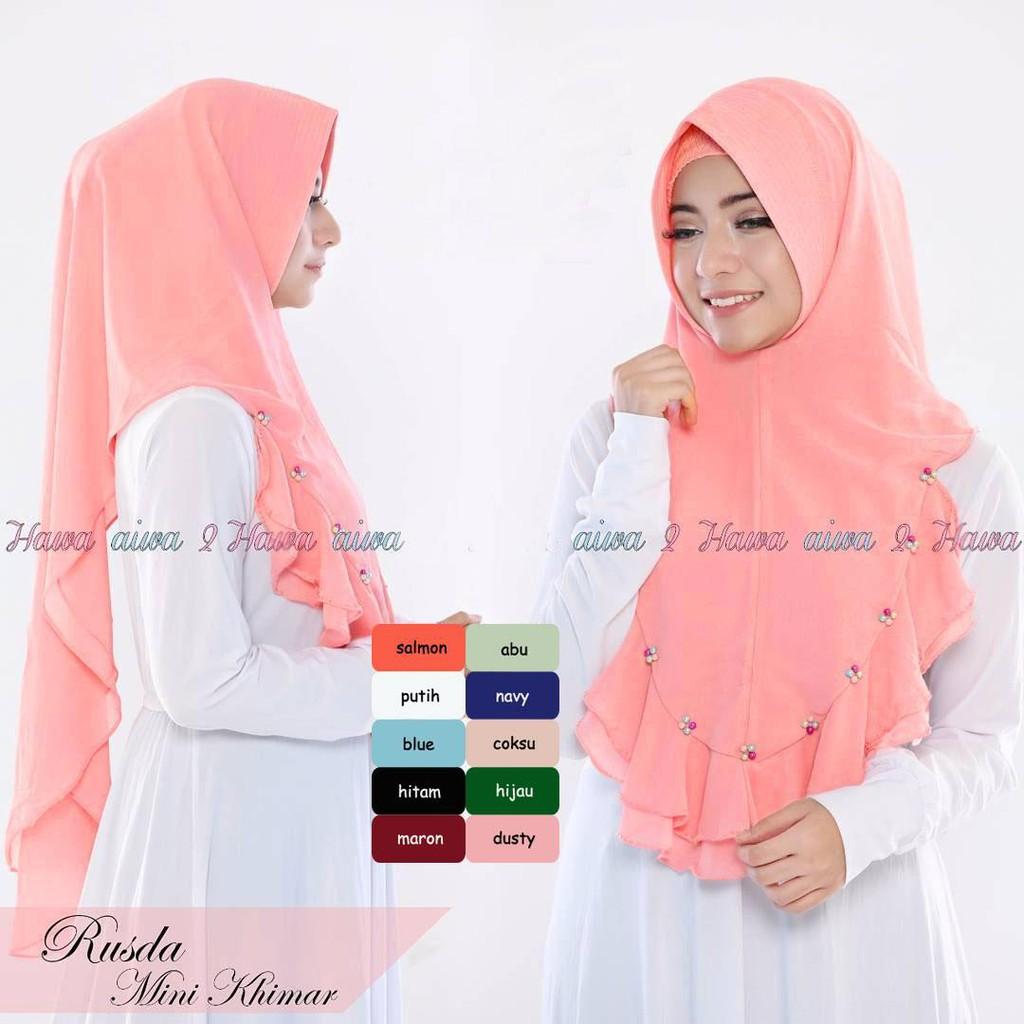 Hijab Khimar Anum Rusda Rempel Tutorial Hijab Syari Cheapest Wholesale Hijab Indonesia Shopee Malaysia
