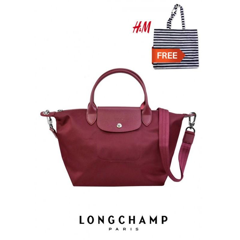 the latest 53e73 8d6b4 L086   LONGCHAMP LE PLIAGE NEO MEDIUM TOTE 1515578 (OPERA) FREE A H M BAG!    Shopee Malaysia