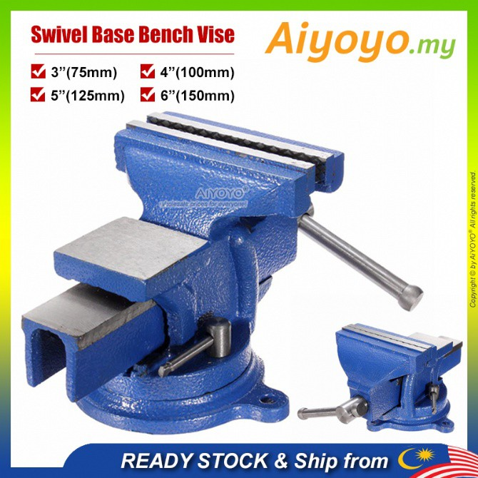 Swivel Base Bench Vise Heavy Duty Bench Vise Swivel Bench Vice Bench Vise Clamp Clamping Tools Metal Milling Locking 360