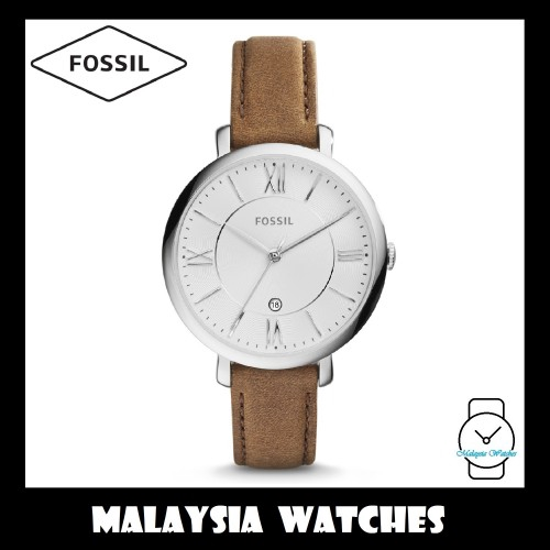 9dba93720 Fossil Women's ES4274 Jacqueline Three-Hand Date Luggage Leather Watch  (Brown) | Shopee Malaysia