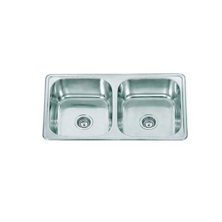 Double Bowl Stainless Steel Sink C/W Waste NKS-881