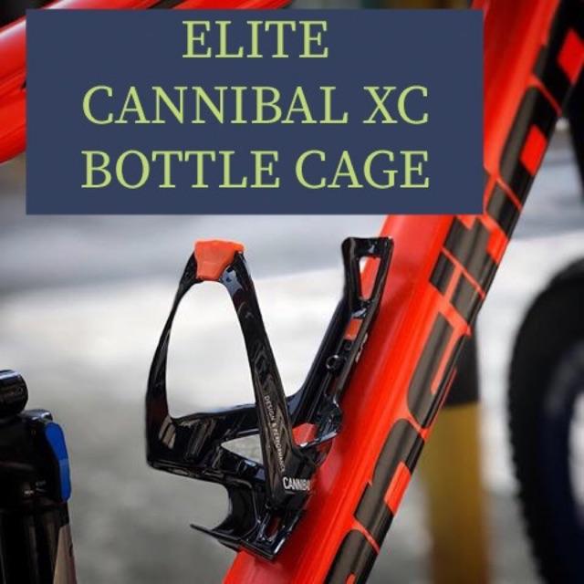 Elite Cannibal Front /& Side Loading Bottle Cage Black White Road Mountain Bike