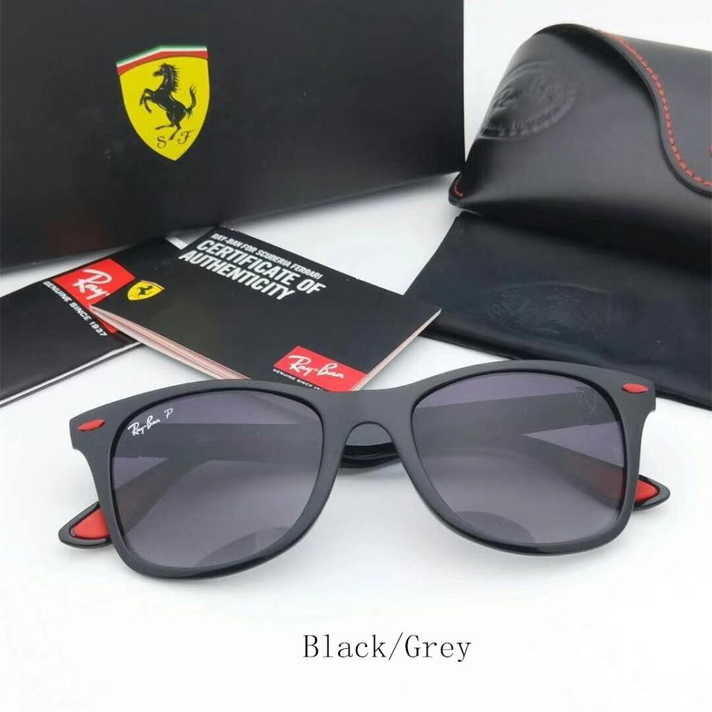 0e3b4008a0c RAYBAN Liteforce Ferrari Polarised RB4195 608 6B