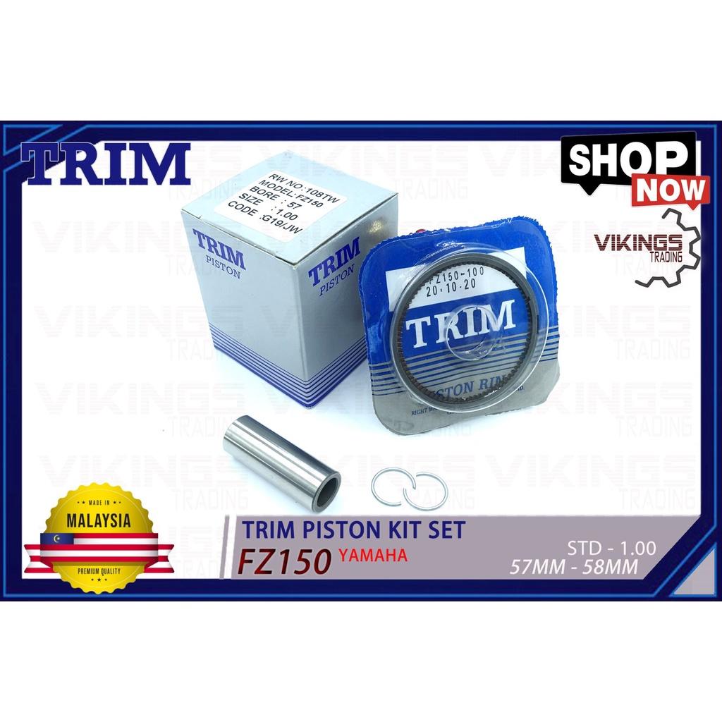 "FZ150 FZ Y15ZR Y15  TRIM PISTON KIT SET ""PISTON+RING+PIN+CLIP"" STD-1.00 MALAYSIA"