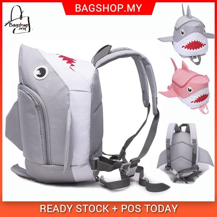 035613b83a Cute Shark Doo Doo Backpack Quality Nylon Kids Unique Bag Beg Jerung MC217  A3