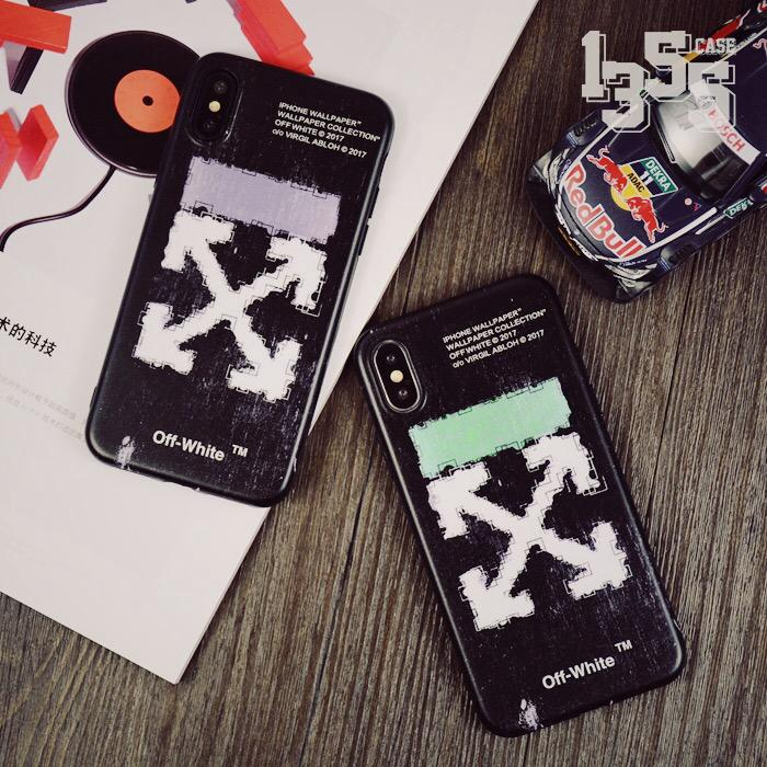 Iphone 6 6s 7 8 Plus X Xs Max Xr Silicon Case Off White Tide Brand Casing
