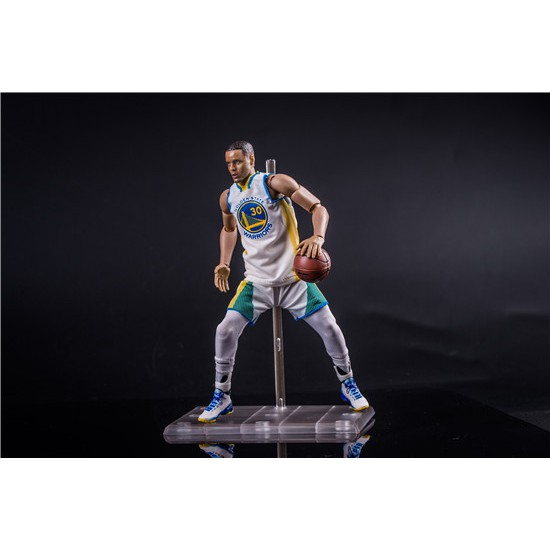 18a2ed56ad7 NBA basketball player Stephen Curry 30th jersey 1 9 white jersey Action  Figure