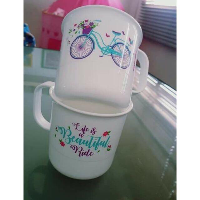 Tupperware bicycle mug 2 pcs ( 350 ml)
