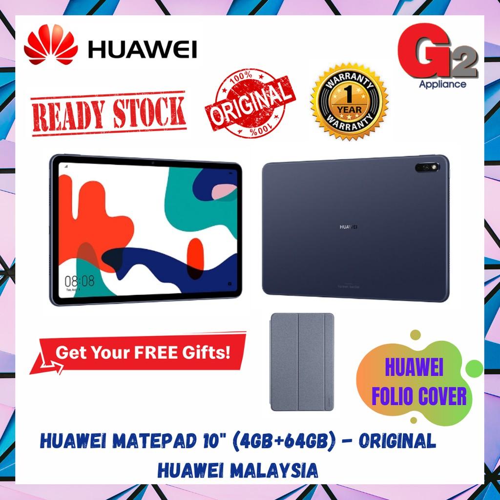 """HUAWEI MATEPAD 10"""" (4GB+64GB) MIDNIGHT GREY - ORIGINAL HUAWEI MALAYSIA"""