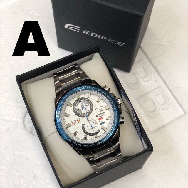 Ready Stock Casio Edifice Stainless Steel All Functions Shopee