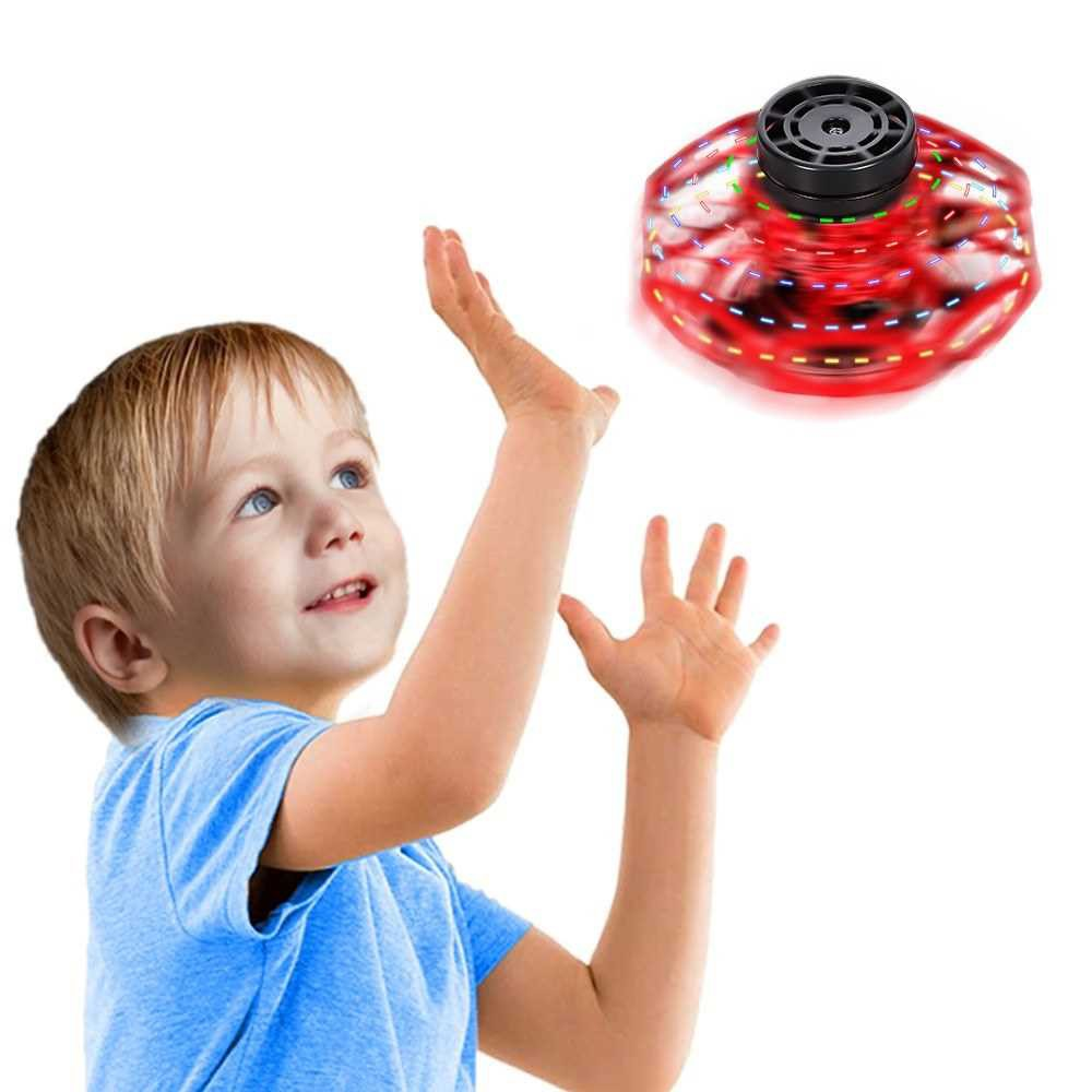 Hand Operated Drones for Kids Adults Hand Control Induction 360° Rotating Flying Toys Mini Drone Toy