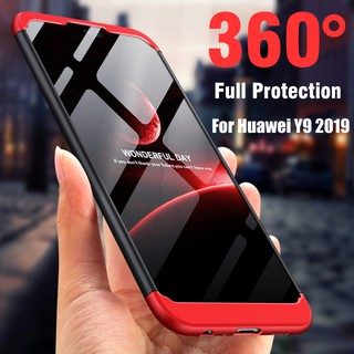 e48eec7a7a 360° Full Protection Shockproof Case For Huawei Y9 2019 Matte Hard Plastic  Case | Shopee Malaysia