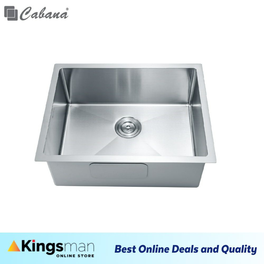 [Kingsman] Cabana Undermount Stainless Steel Home Living Kitchen Sink Single Bowl Ready Stock - CKS6301A