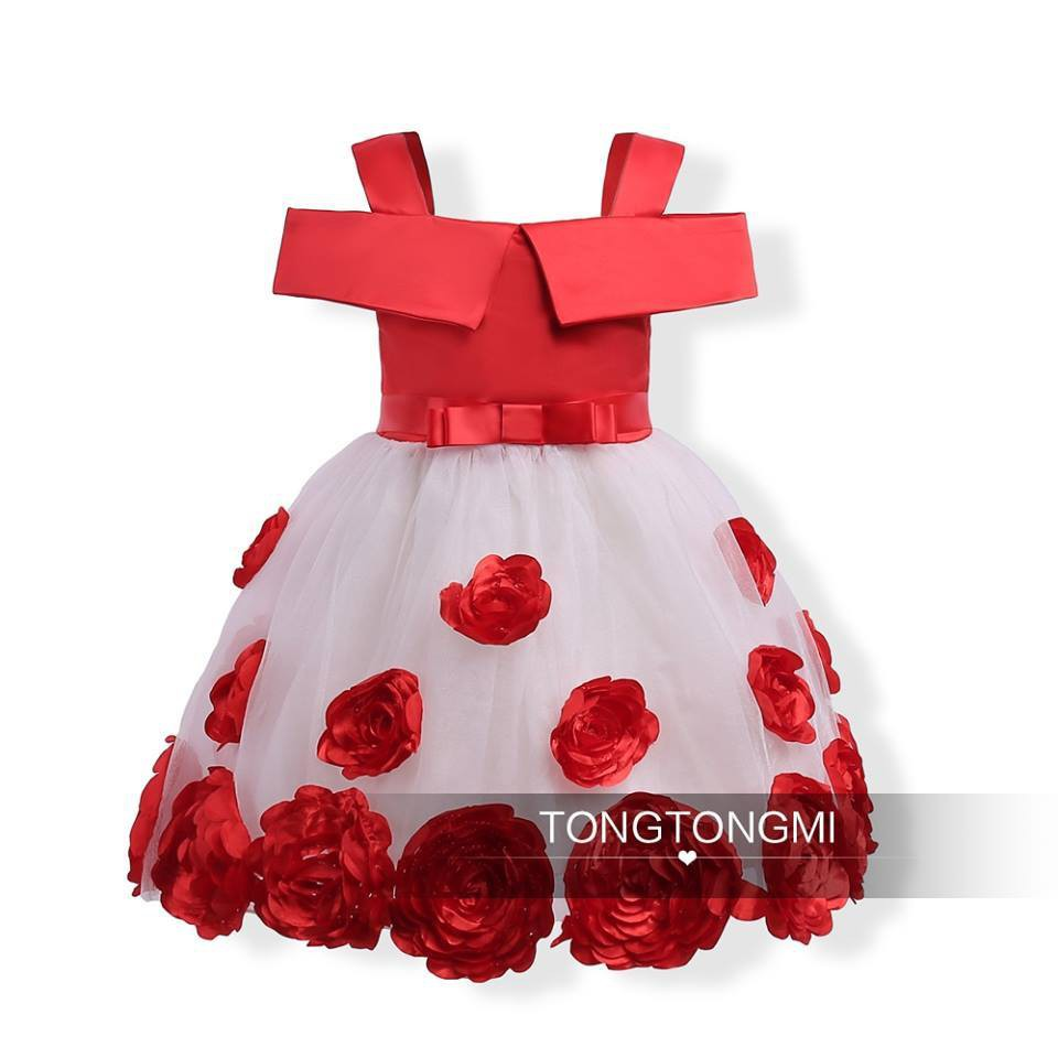 Sleeveless Rose Princess Dress