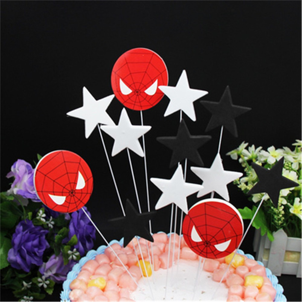 Admirable Spiderman Birthday Cake Topper Flag Decoration Cake Decorating Personalised Birthday Cards Paralily Jamesorg