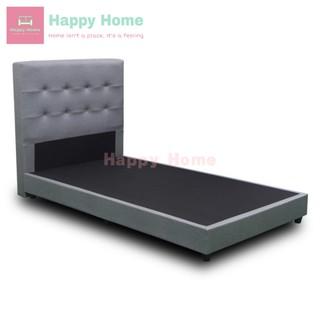 Bekker Super Single Size 3 1 2 Fabric Divan Bed Grey Katil Super Single Size Katil Divan Shopee Malaysia