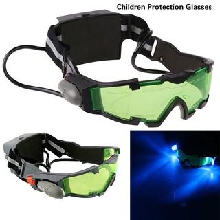 Sonstige Adjustable LED Night Vision Glass Goggles Hunting Flip-out Light WindproofBR