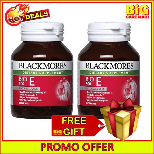 Blackmores Bio E 500IU Vitamin E 2X60s [Expiry: 10/21] + FREE GIFT