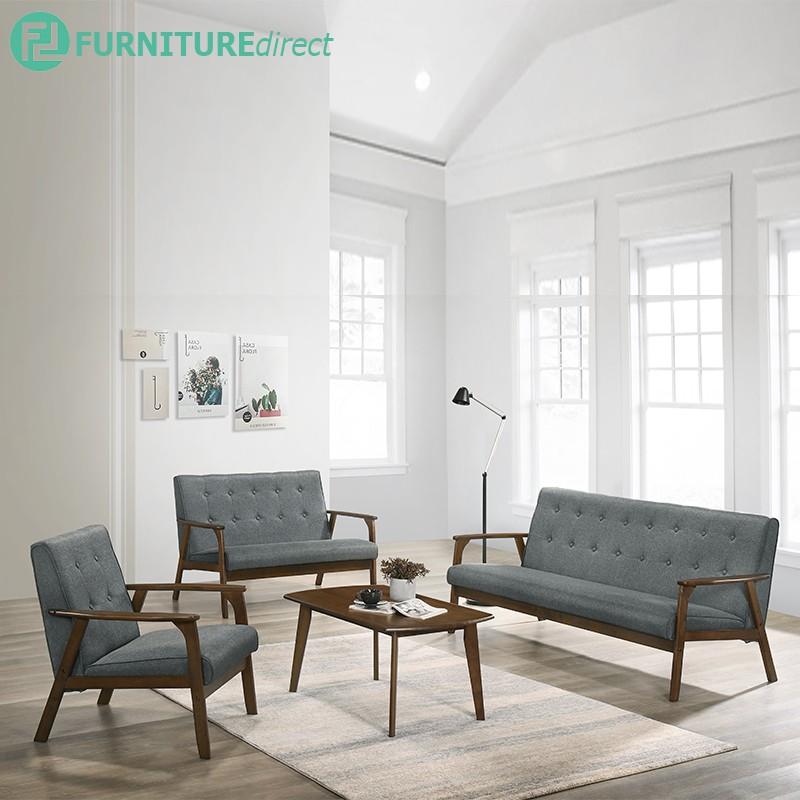 Furniture Direct MORRIS wooden sofa set with free coffee table/ sofa set/ sofa kayu murah/ sofa kayu set