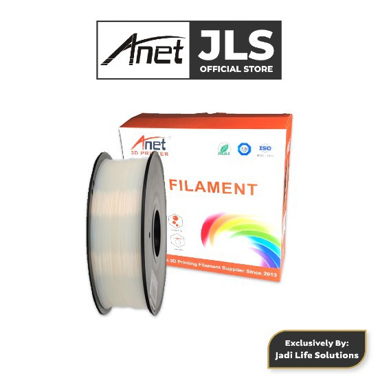 Anet PLA 3D Printing Filament Biodegradable Material - White (340M/1.75mm)