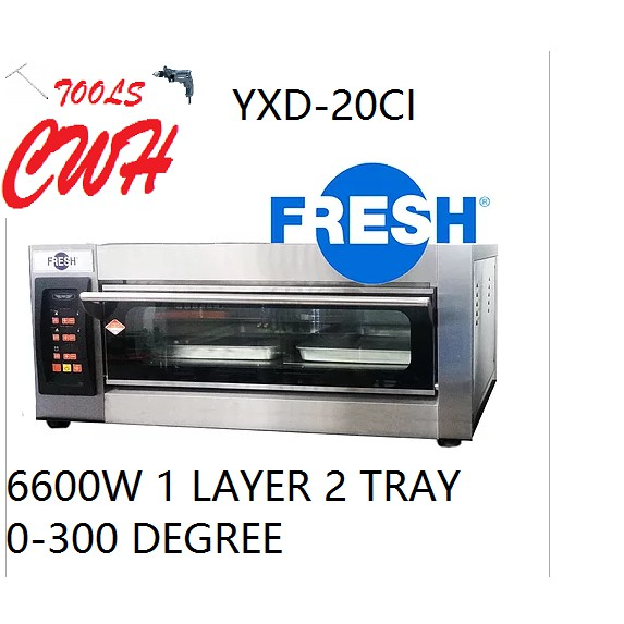 6600W 1LAYER 2TRAY FRESH INDUSTRIAL ELETRIC BAKERY OVEN