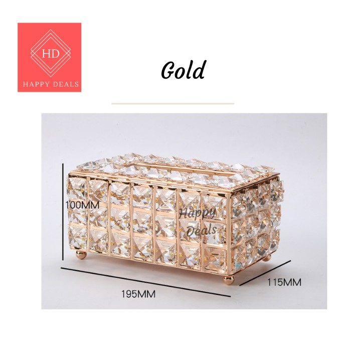 Happy Deals Europe style Luxury crystal tissue box Paper Towel Crystal Storage Box Living Room Tissue Home Supplies