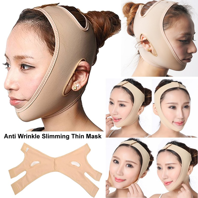 Face Care Wrinkle V Face Chin Cheek Lift Up Slimming Mask Ultra-thin Belt St
