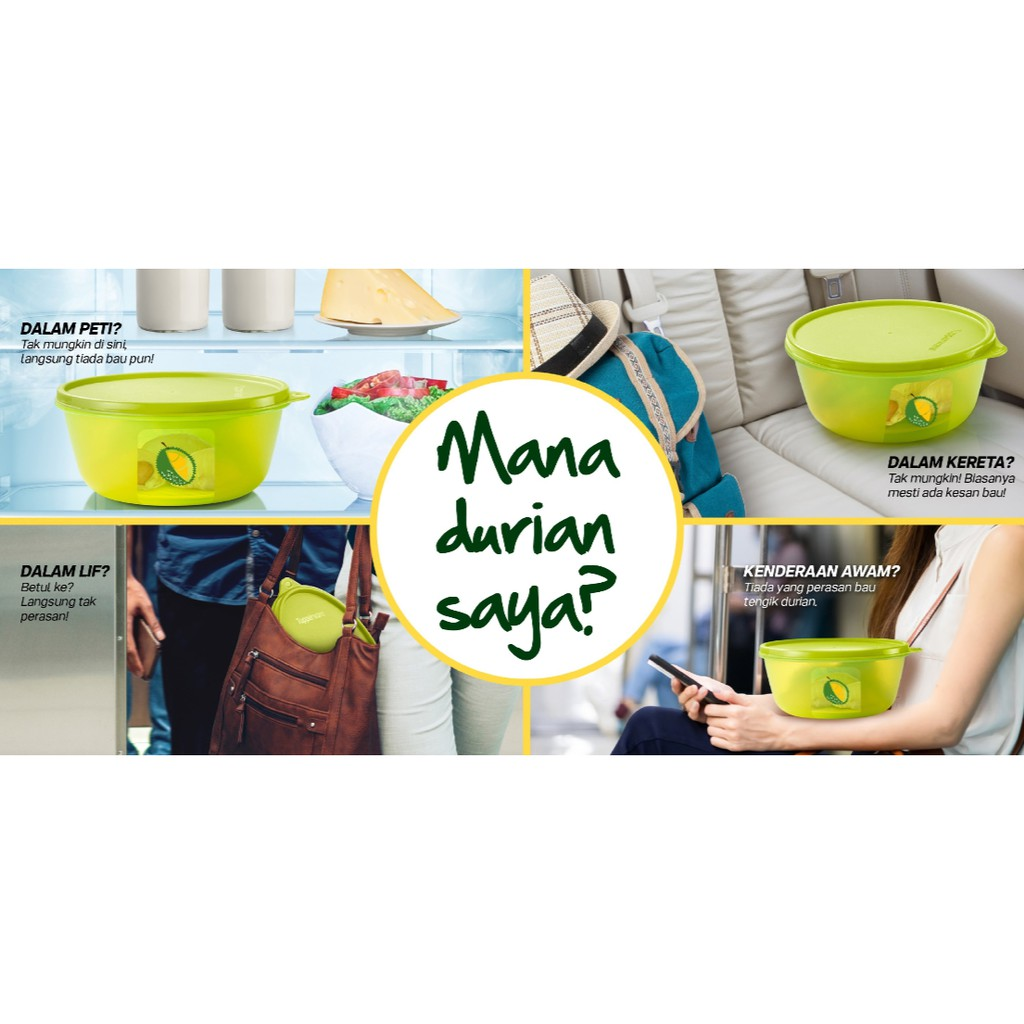 New Tupperware Ultimate Durian Keeper (2) 1.5L