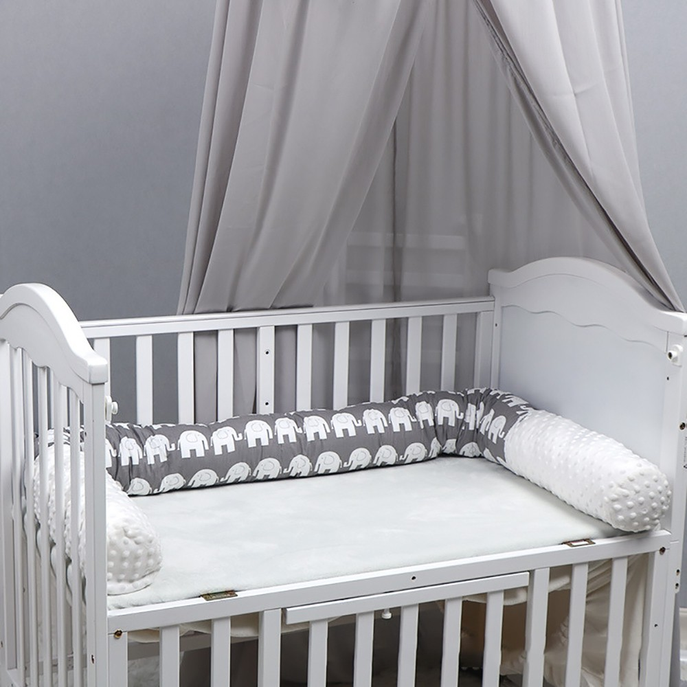Baby Bed WIth Bumper Infant Rolling Prevention Crib Infant Protector Sets Cotton