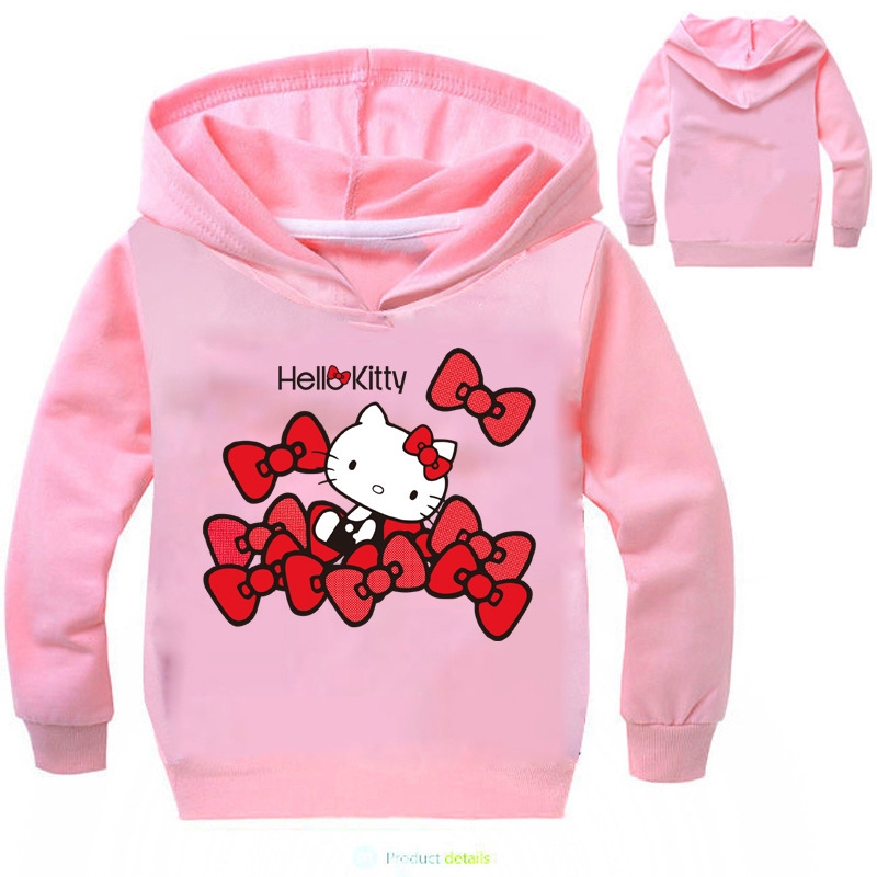 8a8451723 Kids Clothing Girls Sweater Hello Kitty Printed Hoodie Long Sleeves Tshirt  6-14Y | Shopee Malaysia
