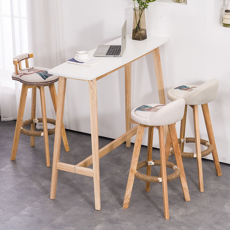 Bar Table Nordic Solid Wood Small Bar Table Home Living Room Wall Partition Table Balcony Tall Coffee Table Shopee Malaysia