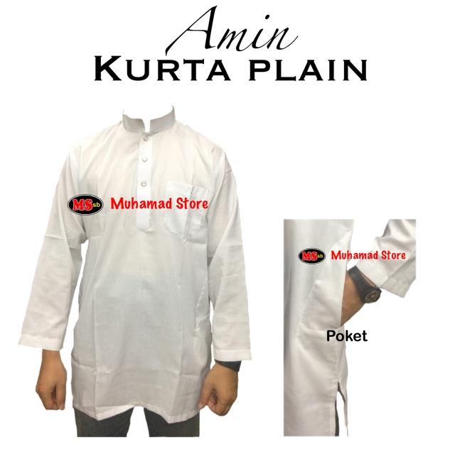 Kurta Amin Plain Lelaki