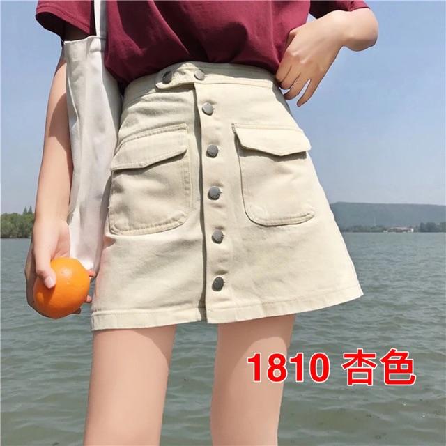 [S~XL]Korean Hogh Waist Denim Skirt 韩版新款百搭高腰显瘦a字半身裙女夏季学生短裙宽松牛仔裙潮