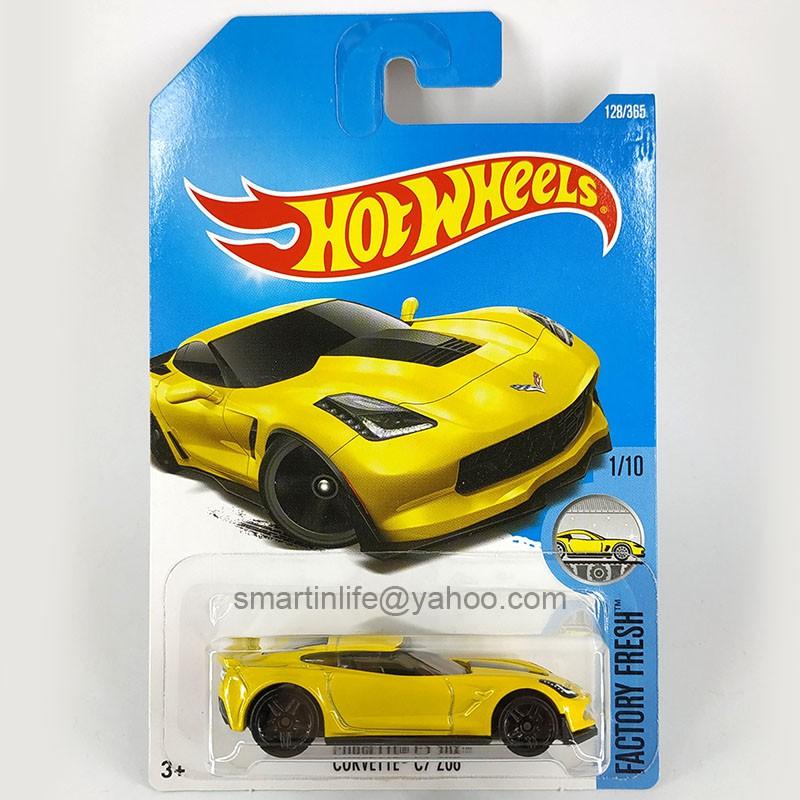 Corvette C7 Z06 Yellow Hot Wheels Loose 1:64