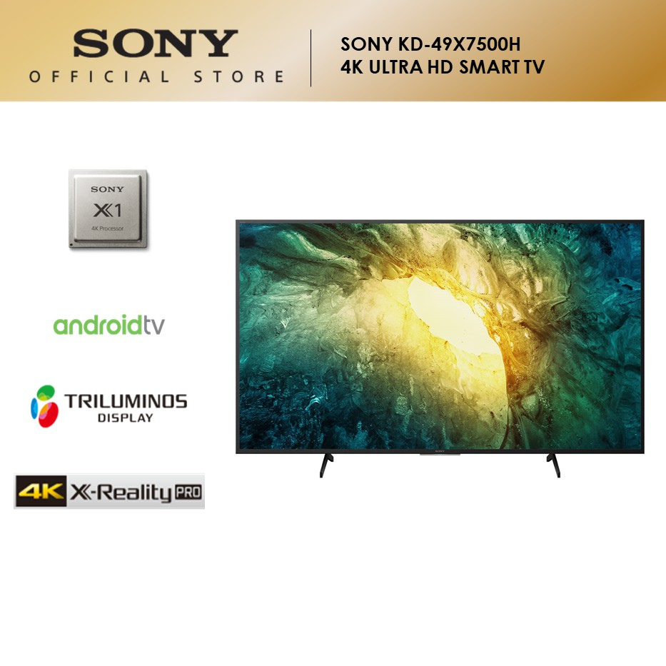 "Sony KD-49X7500H Full Array LED | 4K Ultra HD | High Dynamic Range (HDR) | Smart TV (Android TV) (49"")"