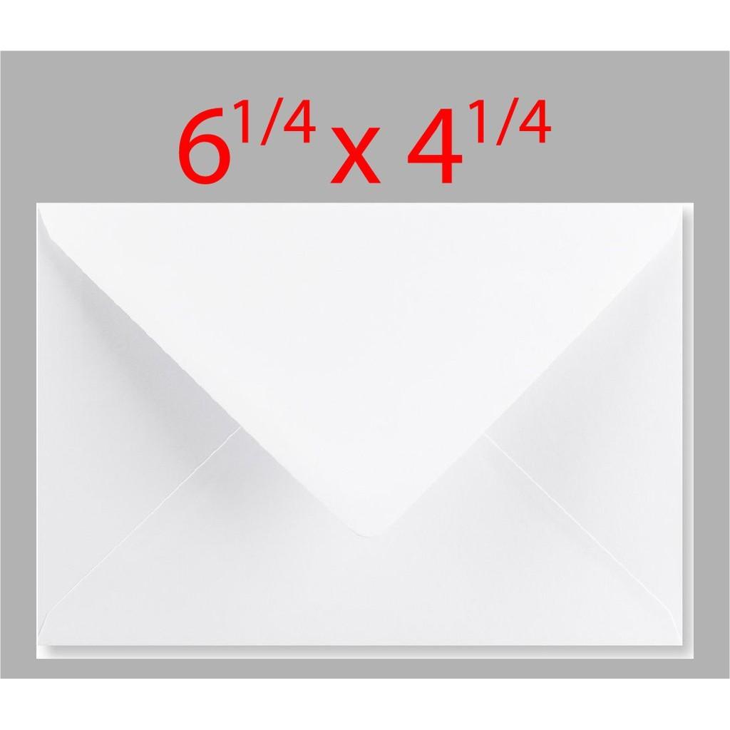 Envelope White  6 1/4 x 4 1/4  x ( 25pcs )