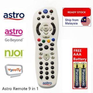 9 IN 1 ASTRO REMOTE CONTROL - ASTRO PVR, ASTRO BEYOND, NJOI