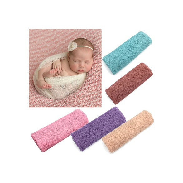 Newborn Baby Polyester Photographie Photo Props Hollow Wrap Serviette
