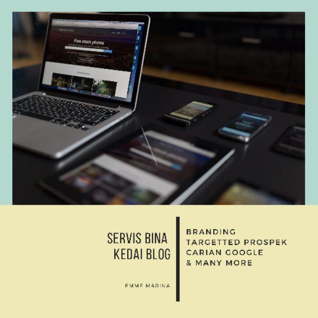 Servis Buat Blog Website Blogshop Minisite Ecommerce Kedai Online Store EMMEMARINA