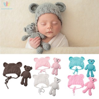a9b5c7d7a Crochetbearhatset Newborn Baby Girl Boy Crochet Knit Bear +Hat Set ...