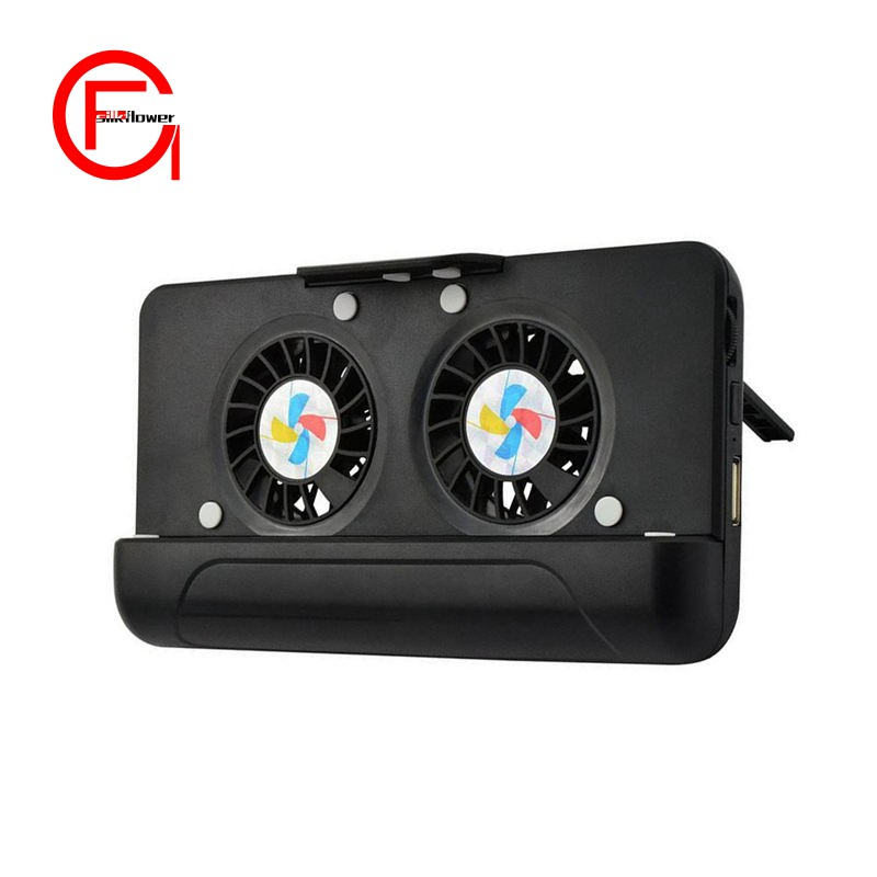Cell Phone Cooler, Usb Cooling Dual Fan Radiator/Stand Holder/Power Bank  With 4400Mah Rechargea