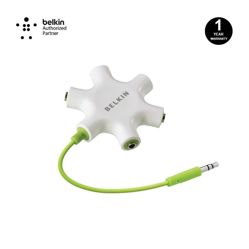 Belkin F8Z274bt RockStar 5-Jack 3 5 mm Audio Headphone Splitter - Green
