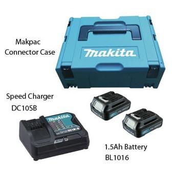 12V 1.5AH MAKPAC POWER SOURCE KIT BATTERY CHARGER TOOL BOX BL1016 DC10SB
