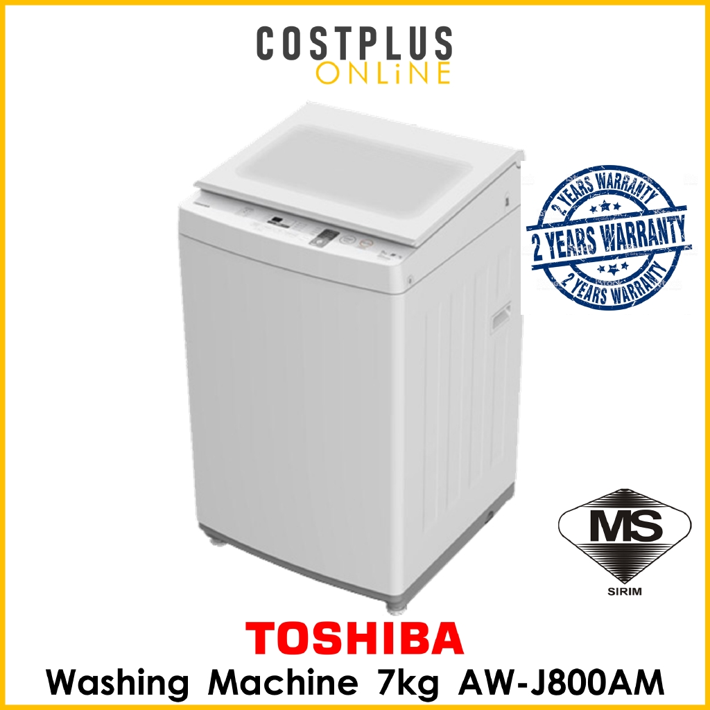 Toshiba AW-J800AM 7kg Washing Machine Fully Auto Top Load with Soft Close Tempered Glass Lid