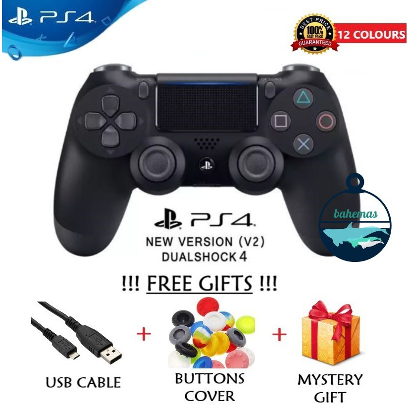DualShock 4 Wireless Controller V2 for PlayStation 4 PS4 Gaming Joystick  Ready Stock Bahemas Malaysia (WITH WARRANTY)